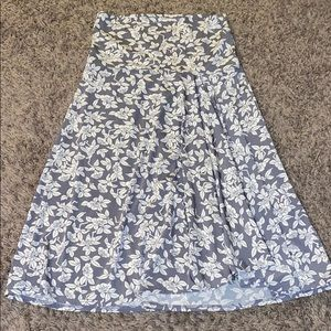 Max studio floral fold over skirt